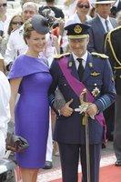 El look de Matilde de Bélgica en la boda real en Mónaco