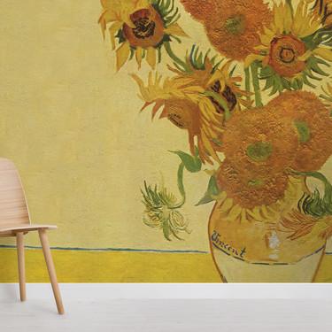 Celebra el 130 aniversario de los girasoles de Van Gogh con estos papeles pintados tan adorables