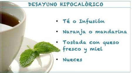 ejemplos de desayunos hipocaloricos