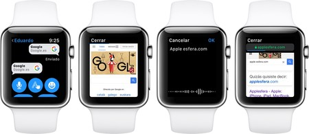 Apple Watch con safari