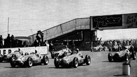 Parrilla de salida Silverstone 1950