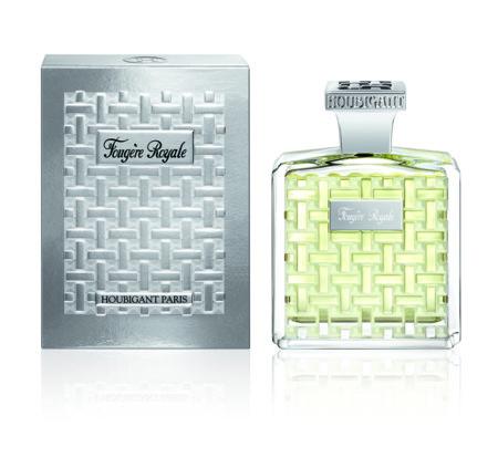 El frasco de la mítica fragancia Fougère Royale de Houbigant reinterpretado con un nuevo twist que lo convierte en irresistible
