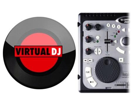 VirtualDJ aplicación para crear mezclas de audio y vídeo