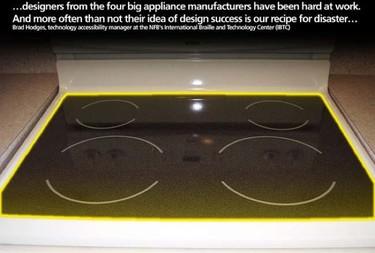 Adaptador de cocina para ciegos