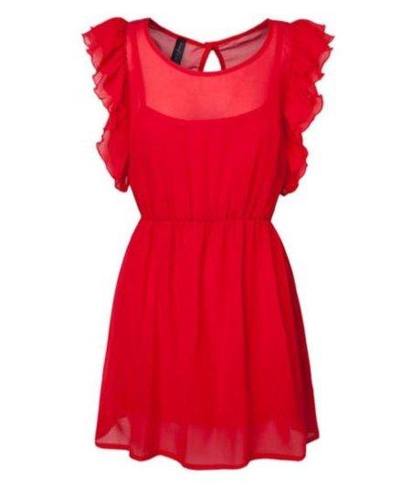 Vestido rojo de Stradivarius