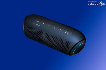 Potencia y LEDs con el altavoz LG XBOOM Go PL7: sonido Meridian, IPX5 y 24 horas de batería por 100 euros menos en Amazon