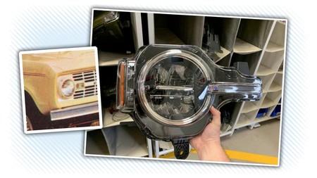 La foto filtrada del faro del Ford Bronco 2020 confirma que será tan vintage como lo imaginas