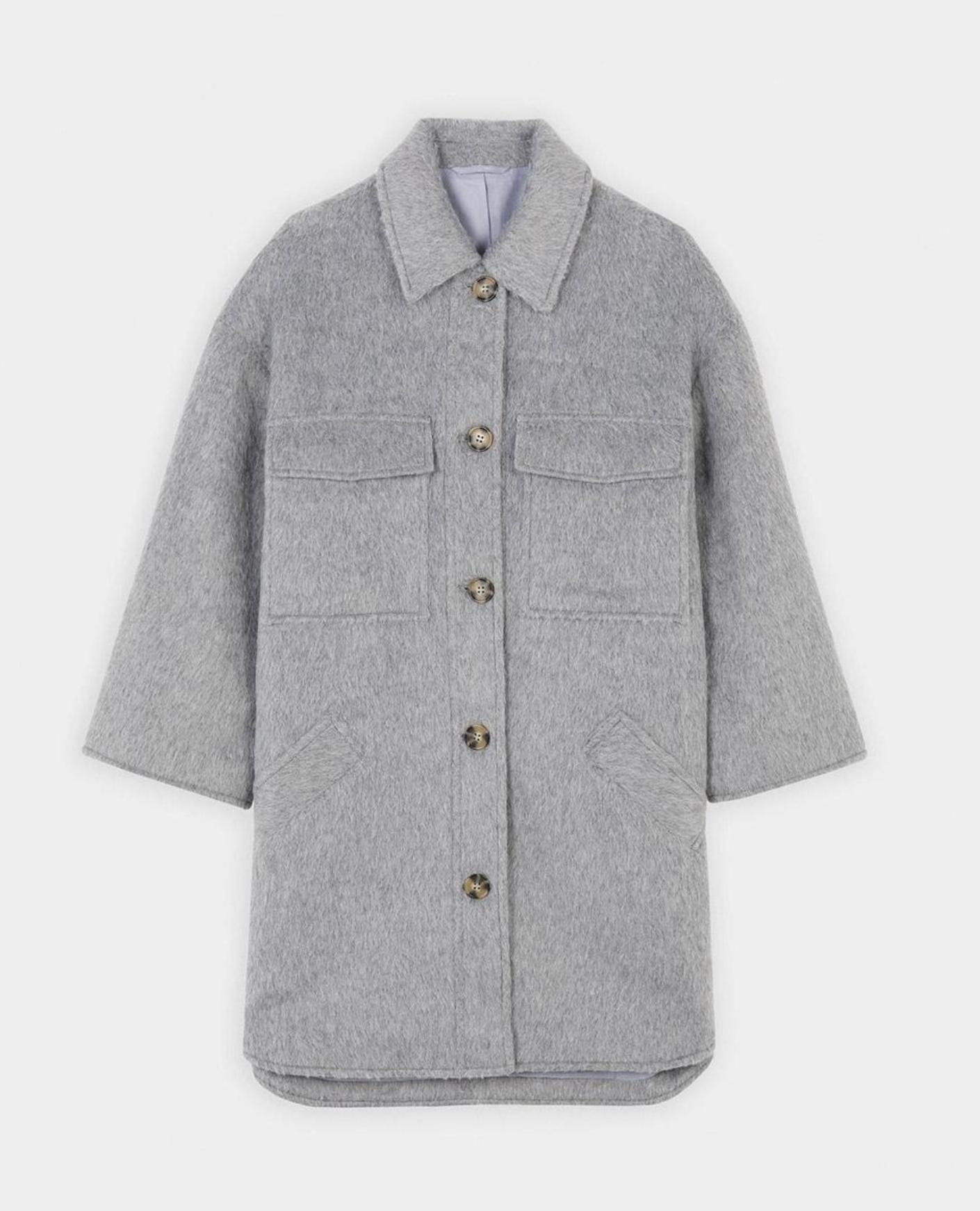 Abrigo de paño de mujer Parfois en gris con bolsillos