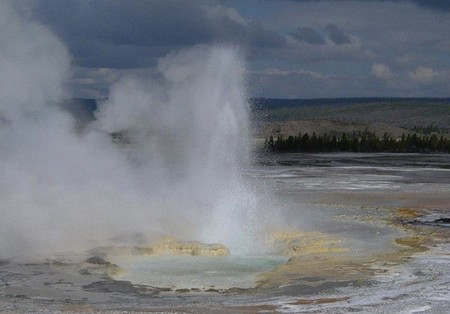 Géiser en Yellowstone