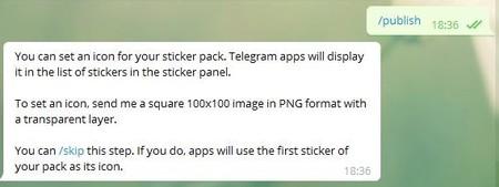 Telegram Stickers Publicar