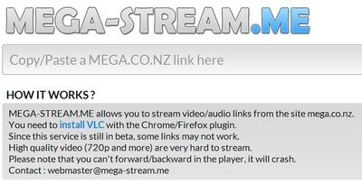 Mega-Stream.me, un servicio para ver contenidos de Mega en streaming