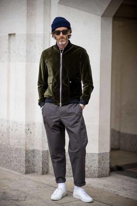 Trendencias Hombre Terciopelo Street Style 2018 14