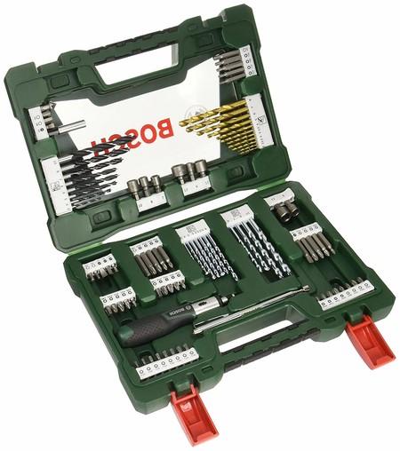 Maletín de  91 piezas para taladrar y atornillar Bosch V-Line Titanio rebajado a 32,90 euros con envío gratis en Amazon