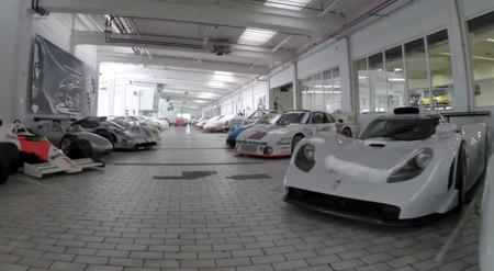 Visitando en vídeo el almacén secreto de Porsche