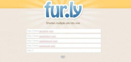 Fur.ly permite agregar varios enlaces en una misma URL corta