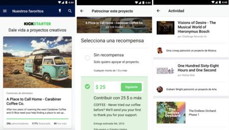 Kickstarter ya tiene su app oficial en Android