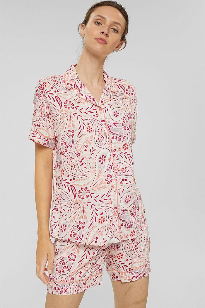 Pijama corto camisero de Esprit