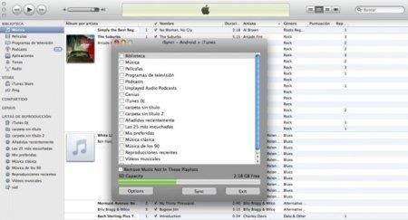 iSyncr permite sincronizar la biblioteca de iTunes en móviles Android