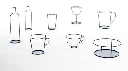 Las ilustraciones de Nendo para David Design cobran vida sobre la mesa