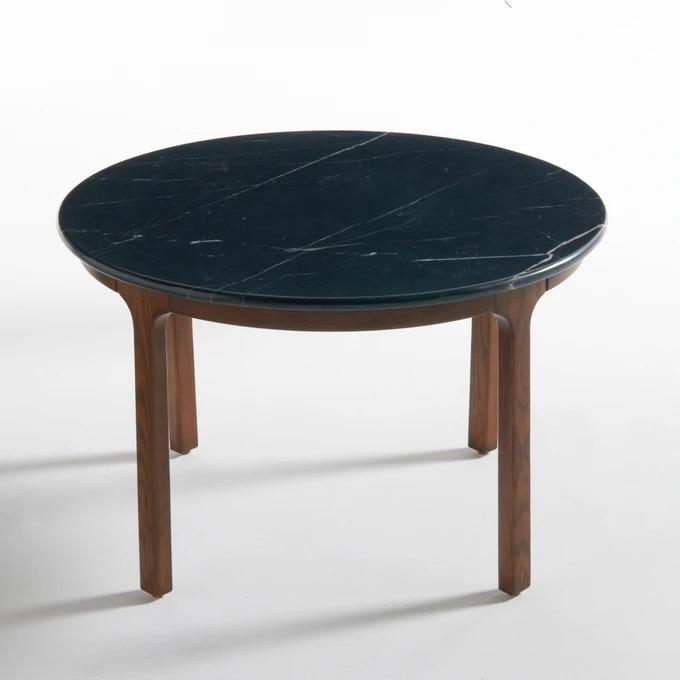 Mesa baja y superficie de mármol negro Botello