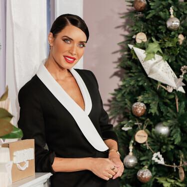 Pantalón y blazer en negro, la apuesta de Pilar Rubio para celebrar las fiestas de Navidad por adelantado junto a Amazon es un fondo de armario en toda regla