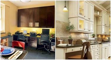 Una zona de trabajo en la cocina. ¿Buena o mala idea?