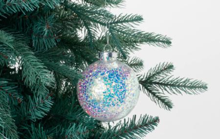Bola Glitter Transparente Navidad El Corte Ingles