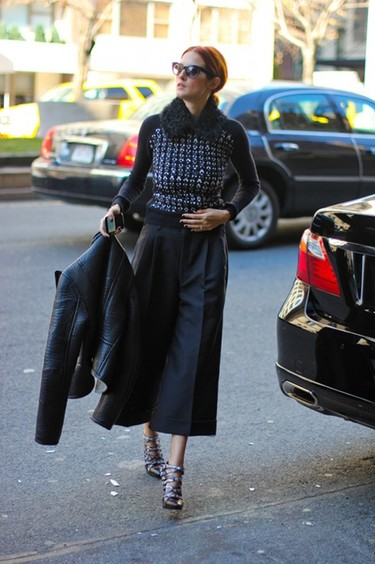 Tendencias con las que sólo se atrevería Taylor Tomasi: los wide-crop trousers