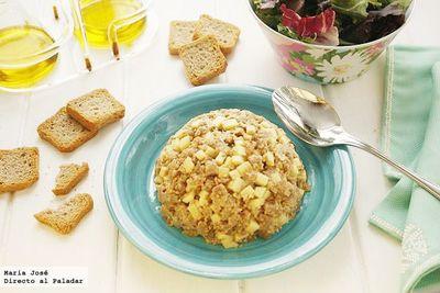 Receta de tartar de atún y manzana verde ácida