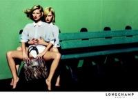 Kate Moss y Sasha Pivovarova en la nueva campaña de Longchamp