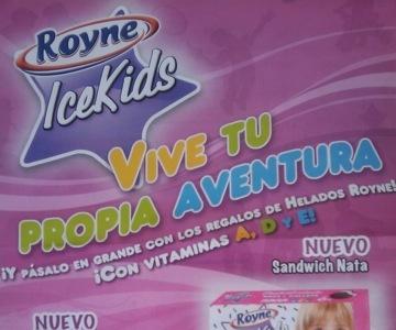 Royne tiene una gama de helados para niños