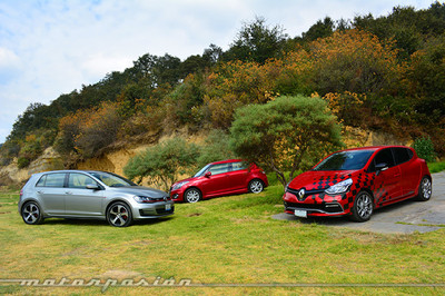 Comparativa: Suzuki Swift Sport vs Renault Clio RS vs Volkswagen Golf GTI (Resultados)