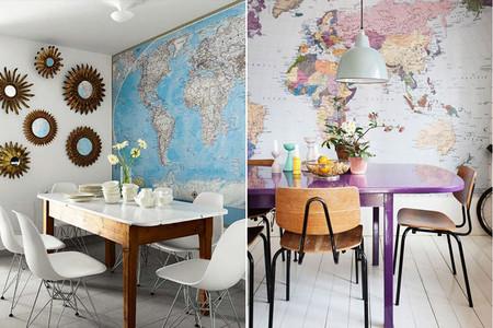 Comedores con mapas gigantes
