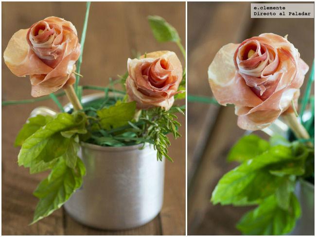 Flores de jamón serrano