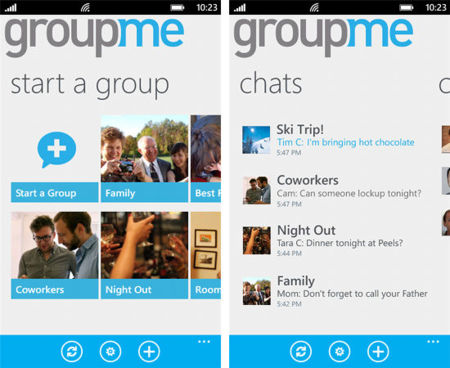 GroupMe actualiza su versión para Windows Phone