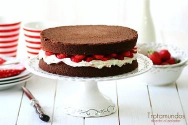 Chocolate Sponge Cake. Receta de postre