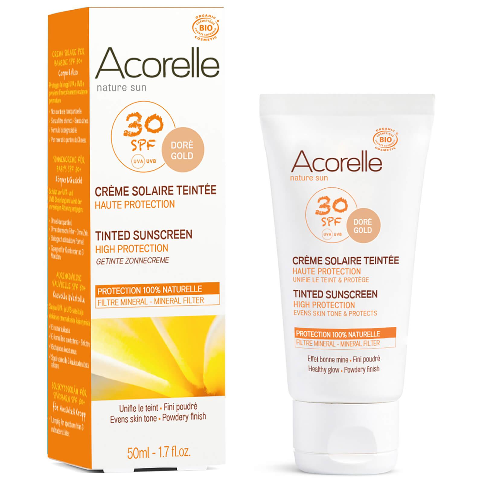 Crema solar con SPF 30 orgánica con color de Acorelle