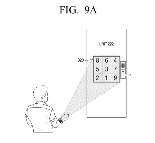 Samsung Patent Numpad Projection Hand 5
