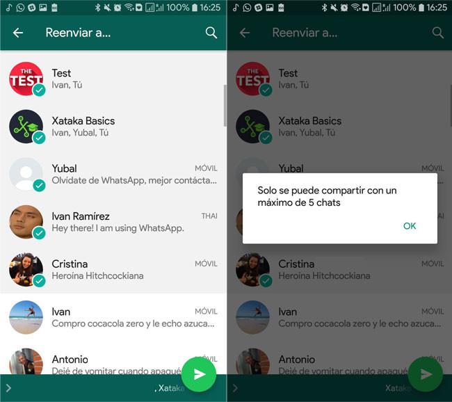 WhatsApp limita a 5 el reenvío de mensajes para acabar con las noticias falsas