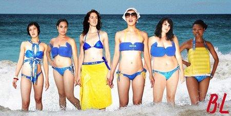 Bikinis hechos con bolsas de Ikea