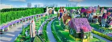 Este jardín de flores que parece sacado de un cuento se llama Dubai Miracle Garden y nos da más ganas de viajar cuando esto acabe
