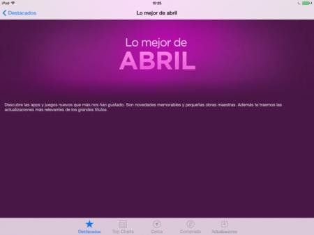 app store apple mejor abril aplicaciones juegos