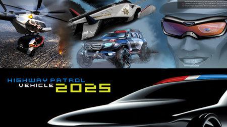 Seis futuristas patrullas de policía para el Salón de Los Ángeles
