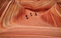 Las hermosas olas de piedra de Arizona