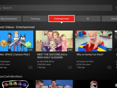 YouTube rediseña la interfaz de su aplicación para smart TV, consolas y centros multimedia