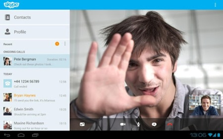 Skype 3.0 mejora en las tabletas Android