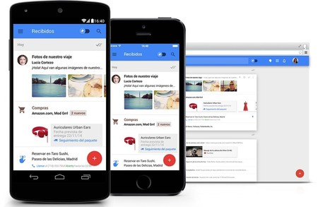 Inbox en Android, iOS y Web