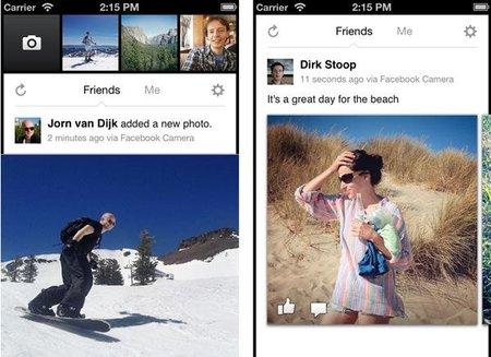 Facebook Camera, la competencia de Instagram por parte de su propio dueño
