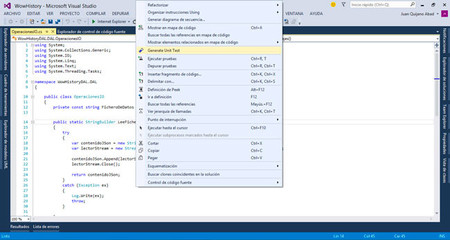 Unit Tet Generator for VS2013