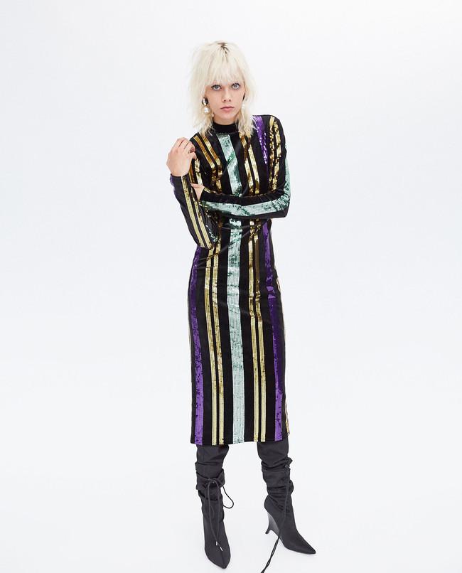 Zara Vestido Lentejuelas